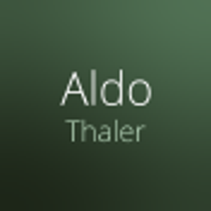 @AldoThaler