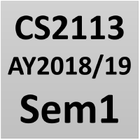 CS2113 @ SoC, NUS: AY 2018/19 Sem 1 · GitHub