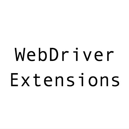 webdriverextensions